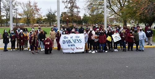 GHS Out of Darkness Participants and Sign