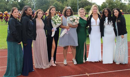 The Homecoming Court is pictured.