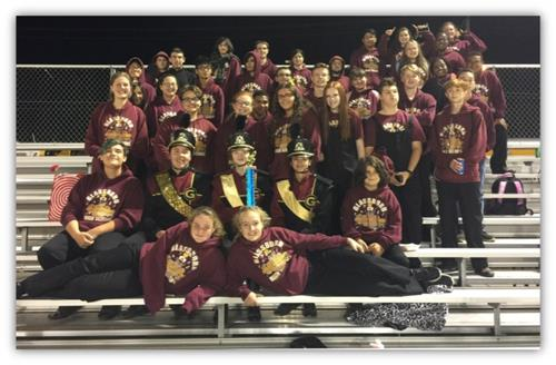 The award winning GHS Marching Band is pictured here.