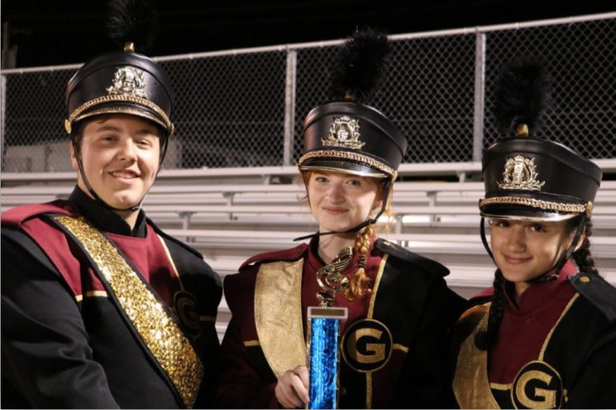 GHS Drum Majors are pictured.