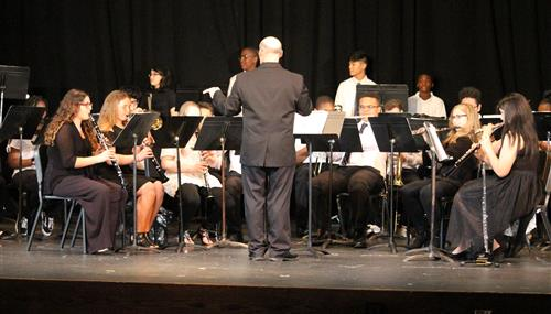 The GIS Band is pictured performing.