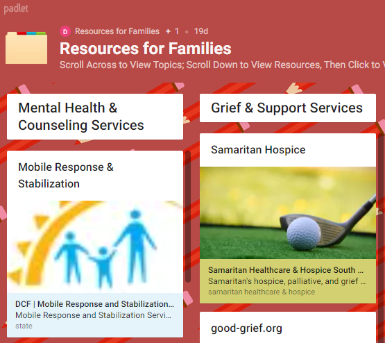 Summer Resources for Families/Students