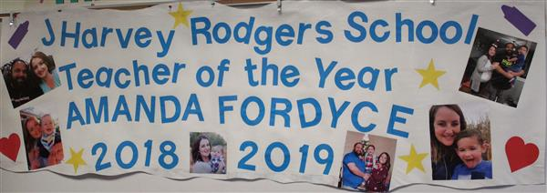 Congratulations to Teacher of the Year, Amanda Fordyce!